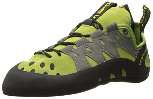 La Sportiva Men's TarantuLace Performance Rock Climbing Shoe, Kiwi/Grey, 34.5 M EU