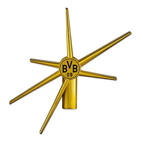 Borussia Dortmund Unisex Weihnachtsbaumspitze/Christbaumspitze, gold, Einheitsgröße