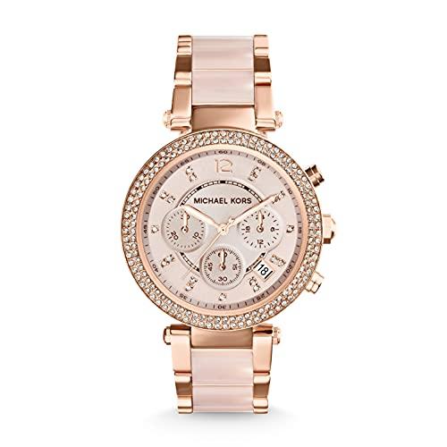 Michael Kors Reloj Cronógrafo para Mujer de Cuarzo con Correa en Acero Inoxidable MK5896
