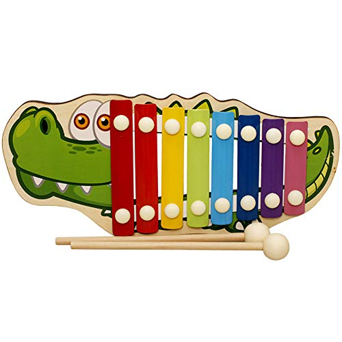 Baby Kid Musical Toys Wooden Xylophone Eight-Tone Piano Early Education A Toys and Hobbies Education Toys Christmas for Faclot