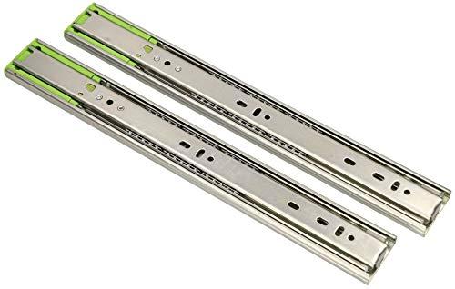 KOTARBAU® 1 Paar (2 Stück) Teleskop-Schienen kugelgelagert 350 mm Vollauszug Schubladenschienen mit SoftClosing Selbsteinzug für Schubladen