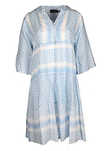 Zwillingsherz Sommerkleid im modernen Design – Hochwertiges Freizeitkleid für Damen Frauen Mädchen - Abendkleid Strandkleid - Locker luftig - OneSize - Perfekt für Frühling Sommer und Herbst - hbl