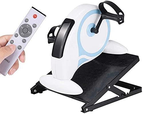 LCJD Bicicleta estática reclinada con Resistencia Ajustable, máquina de Ejercicios de recuperación de rehabilitación eléctrica, ejercitador de Pedal de Brazos y piernas