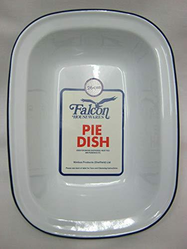 10.5' Enamel Oblong Pie Dish