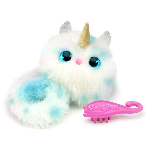 Bandai - Pomsies - Winter - Licorne blanche et bleue - Peluche interactive qui s'accroche partout -...