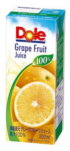 Dole グレープフルーツ100% 200ml×18本 紙パック