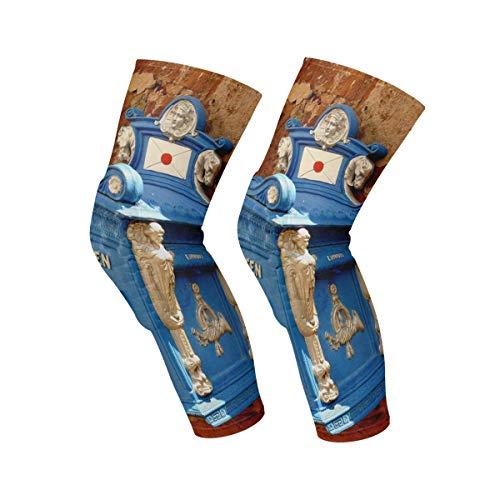 FANTAZIO kniebrace voor kniepijn blauwe brievenbus aan de muur voor pijnverlichting/letsel, hardlopen/gewrichtspijn