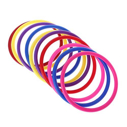 10 Stück Kunststoff-Wurfringe für Kinder, Ring-Wurfspiel, Spiele für Kinder, Outdoor, Garten, Hinterhof, Intelligenzentwicklung, pädagogisches Spielzeug 10