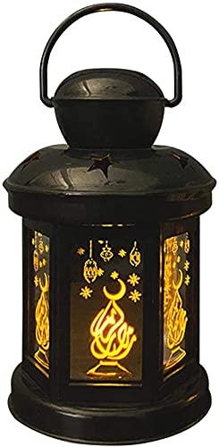 MOCHENG Linterna LED Ramadán de alto brillo, faro de Ramadán LED, linterna de vela de jardín, faroles decorativos para musulmanes islámicos Eid Al-Fitr u otros festivales