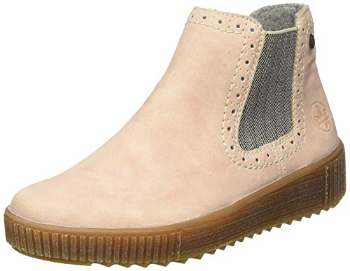 Rieker Damen Y6462 Chelsea Boots Stiefel, Pink (rosa/leinen 31), 39 EU