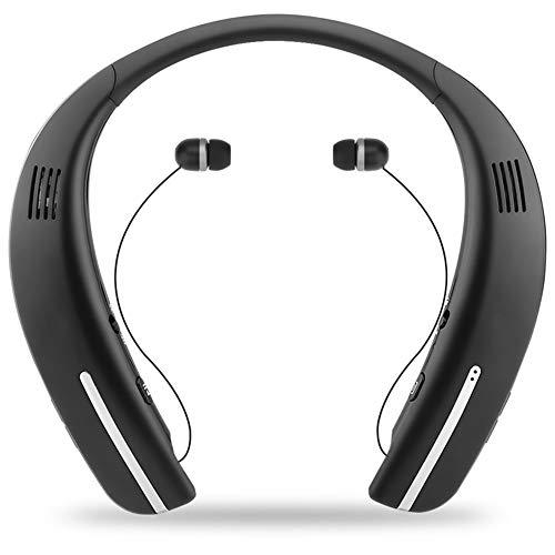 RENJUN Collo Hanging Speaker, Innovativo Collo Montato Auricolare Bluetooth Portatile Movimento Sport all'Aria Aperta Altoparlante Impermeabile