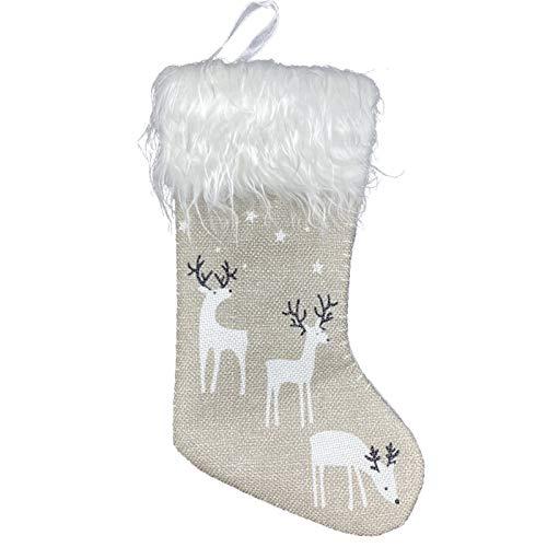 kerst decoratie Kerst ornamenten, Kerst kousen, hangers, kleine laarzen, kinderen nieuwe jaar snoepzak, giftboom artikelen Kerstkousen (Color : B)