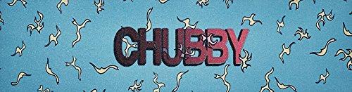 Chubby Wheels Co Patinete de Grip Tape + Fan tic26Pegatinas, sticky blau/gelb