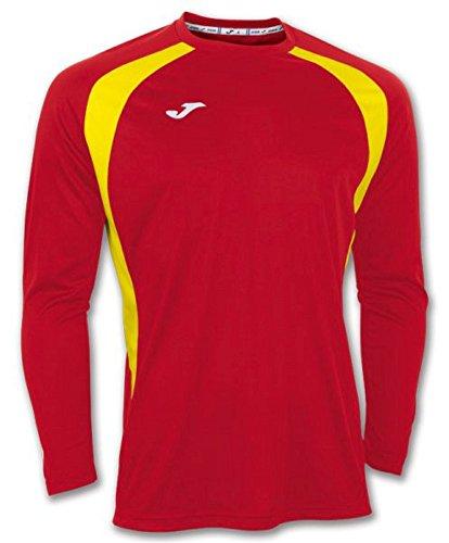 Joma 100015.609 - Camiseta de equipación de Manga Larga para Hombre, Color Rojo/Amarillo, Talla 4XS-3XS