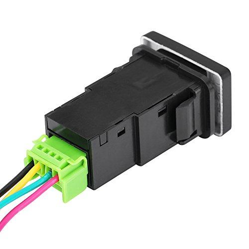 Qiilu Interruptor basculante LED para coche, encendido/apagado para Toyota Camery Yaris Highlander Prius Carora(Iniciar patrón de energía)