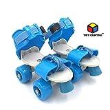 Toy Centre Super Quality Adjustable Blue Color Quad Shoe Roller Skates Inline Skates Suitable for Age Group 7 to 11 Years (Blue)