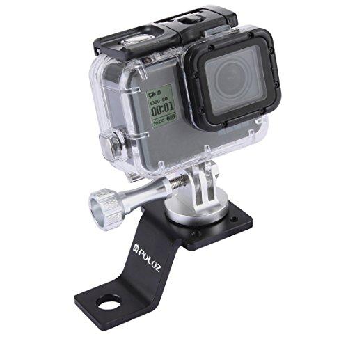 Puluz accesorios Moto Espejo/Perno Soporte Fijo Metal Bicicleta Soporte Para Gopro Hero 54sessione negro plata 4332Sport Action Camera