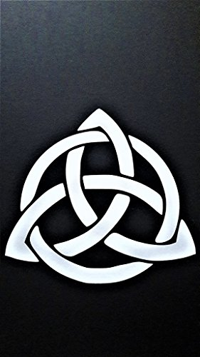 Chase Grace Studio Celtic Knot Infinity Eternity Vinyl Decal Sticker|White|Cars Trucks Vans SUV Laptops Wall Art|5' X 5'|CGS473