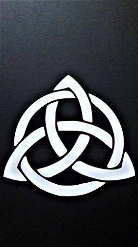 Chase Grace Studio Celtic Knot Infinity Eternity Vinyl Decal Sticker|White|Cars Trucks Vans SUV Laptops Wall Art|5' X 5'|CGS473