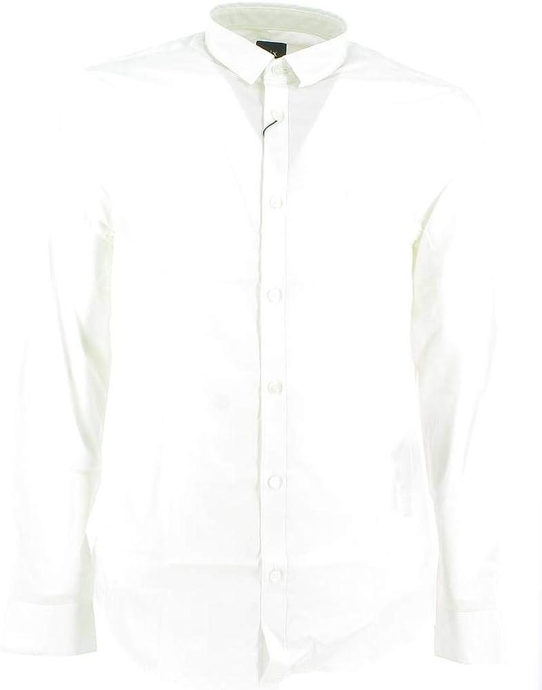 Armani exchange smart & slim, camicia per uomo,98% cotone, 2% elastan 8NZC41ZN28Z