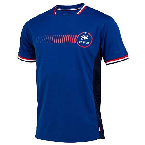 Camiseta de la selección de Francia FFF Poly oficial de la selección francesa, talla L, color azul