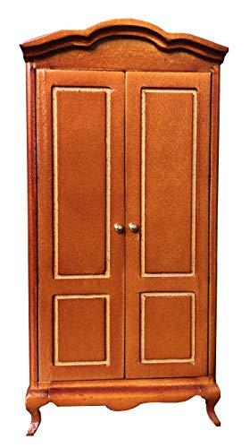 Inusitus Miniature Dollhouse Cabinet Closet - Dolls House Mini Furniture Wardrobe - Black - 1/12 Scale Armoire (Medium)