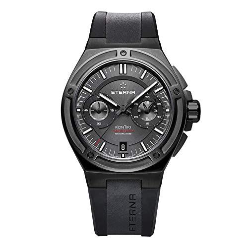 Eterna Herren-Armbanduhr Royal KonTiki Manufacture Chronograph Datum Analog Automatik 7755.43.40.1289