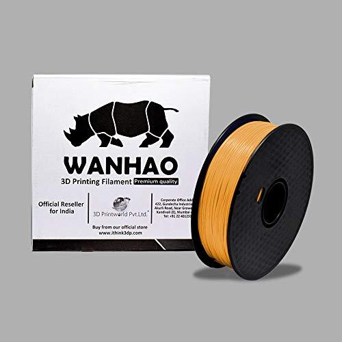 Wanhao ABS 1.75mm3D Printer Filament - By 3D Print World (Gold)