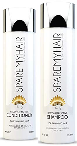 Spare My Hair Shampoo & Conditioner, for Hair Growth with Biotin, Yucca Extract, Horsetail, Saw Palmetto, Jojoba, Multi-Vitamins & Keratin Protein for Healthy Hair Treatment for Men & Women.