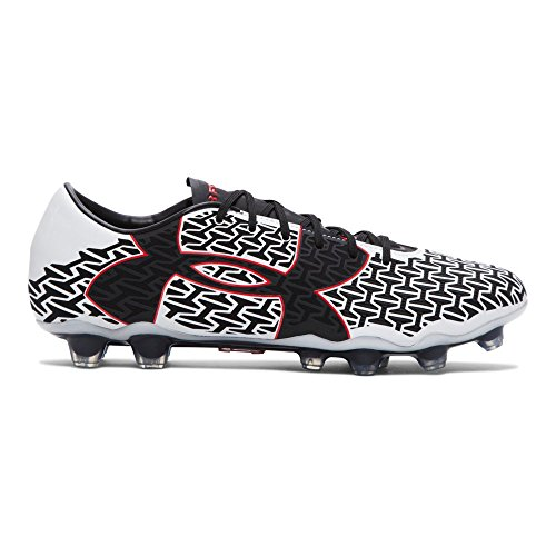 Under Armour ClutchFit Force 2.0 FG Football Boots - White/Risk Red/Black - Size UK 7 (Euro 41)