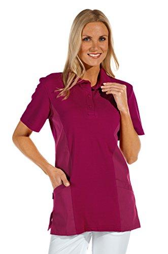 clinicfashion 12812015 Polo-Schlupfhemd Beere für Damen, Mischgewebe, Größe XL