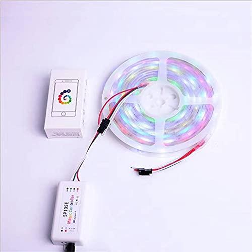 DEWUFAFA Luz de Tira LED, SP105E LED RGB Strip Light, 5V-24V IP65 IP65 A Prueba de Agua Cambiador de Color LED Luz de Tira Adecuada para habitación, Cocina, TV Fiesta