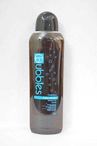 Unbekannt Bubbles Champú para perros Pelo Negro con extracto de cacao para pelo oscuro (volumen), botella de 1 litro