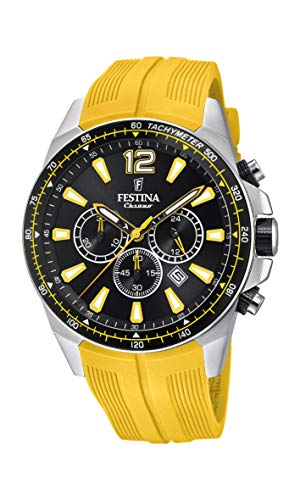 Festina Herren Chronograph Quarz Smart Watch Armbanduhr mit PU Armband F20376/4