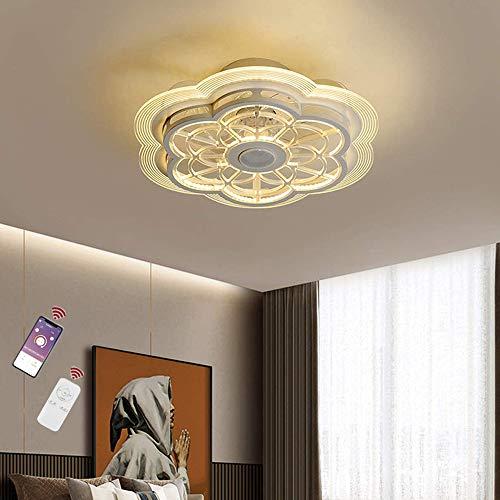 Ventilador De Techo Con Iluminación Y Control Remoto Lámparas De Techo LED De 60 W Regulables Con Altavoz Bluetooth Música Ventilador Silencioso Lámpara De Techo Dormitorio Sala De Estar Iluminación