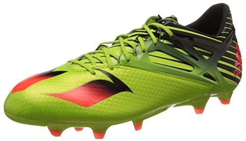 adidas Messi 15.1, Botas de fútbol Hombre, Verde/Rojo/Negro (Seliso/Rojsol/Negbas), 44 2/3
