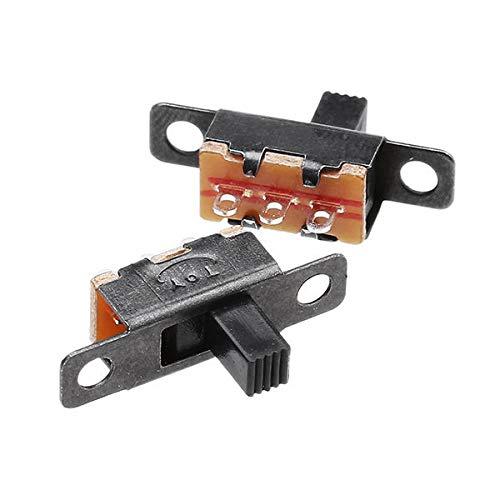 Frieed 50 unids en posición Vertical Miniatura Negra en Miniatura en/en 3 Pines terminales Interruptor Deslizante Durable
