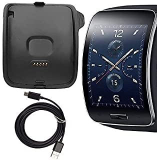 Gear S Charger, Samsung Gear S Charging Cradle Dock, SM-R750 AnoKe Replacement Portable Charging Docking Station Cradle Do...