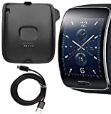 Gear S Charger, Samsung Gear S Charging Cradle Dock, SM-R750 AnoKe Replacement Portable Charging Docking Station Cradle Dock + USB Cable Cord for (Samsung R750 Dock)