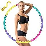 CAVEEN Fitnessreifen, Hula Hoop Yoga Circle für Fitness Abnehmbar Design Fitnesskreis mit Magnet Massage Hula Hoop Reifen für Fitness Training mit Bandmaß, 95cm