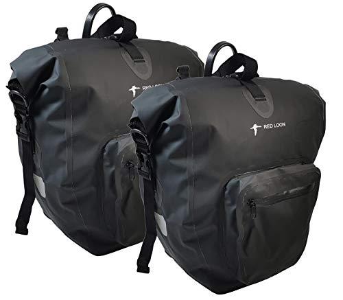 2 x Red Loon Plus Pannier Bag Black Pannier Rack Bag Luggage Bag