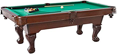 Barrington Springdale 90 Inch Claw Leg Billiard Table Set with Cues, Rack, Balls, Brush, and Chalk (23 Pieces)