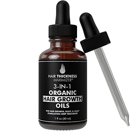 Best Organic Hair Growth Oils with Tea Tree. Stop Hair Loss Now by Hair Thickness Maximizer. Best Treatment for Hair Thinning. Hair Thickening Serum (1oz Tea Tree + Growth Oils)