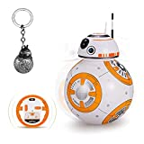JLHOBBY Bb8 Remote Control Robot Star Wars 360°Rolling Singing Funny Toys with Key Ring Gift 2.4G RC Magnetic Robots for Kids Boy and Girl 8-12