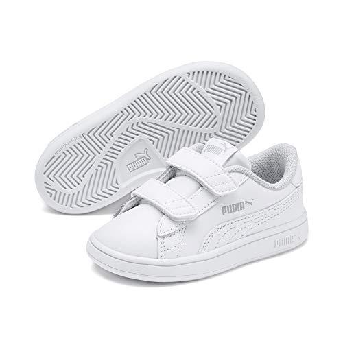 Puma Unisex Baby Smash v2 L V Inf Sneaker, Weiß (Puma White-Puma White 02), 22 EU