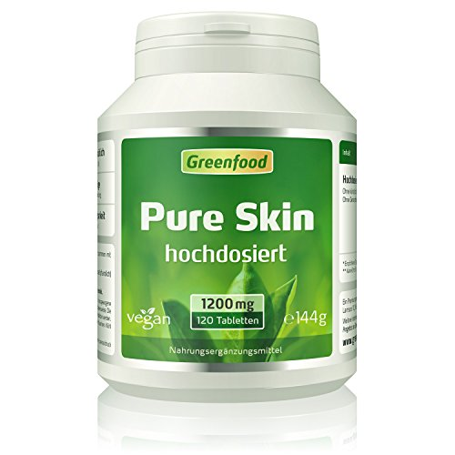 Greenfood Pure Skin aktiv, hochdosiert, 120 Tabletten