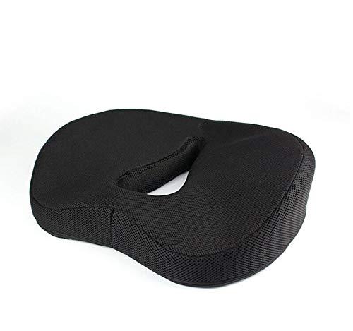 TYBXK Seat Cushion Donut Pillow Hemorrhoid Seat Cushion Tailbone Coccyx Orthopedic Medical Seat Prostate Chair Cushion for Hemorrhoids Memory Foam 99 (Color : Black)