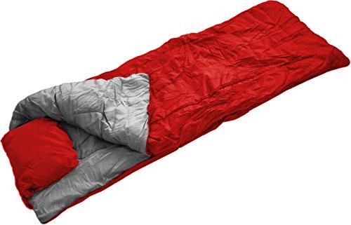 normani Pilotenschlafsack mit Hollow-Fiber-Füllung, 400 g/m2, inkl. Packsack, 200 cm x 75 cm Farbe Rot