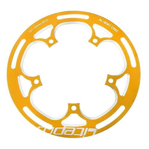 Amagogo Protector de de Bicicleta de Carretera Plegable de Aleación de Aluminio BCD130 52T Anillos de Cadena de Bicicleta - de Oro