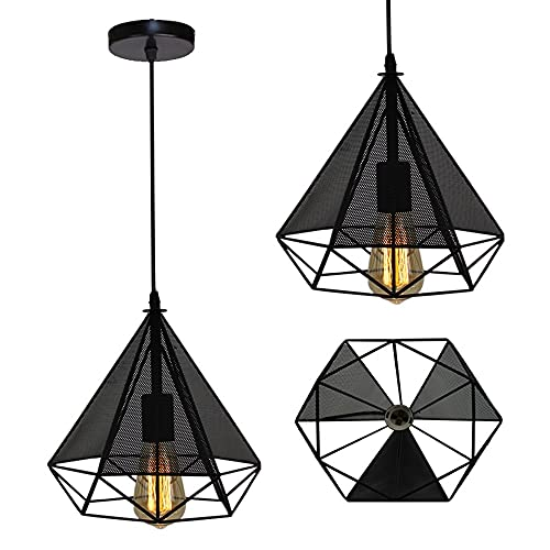 Chandelier de granja Lámpara de colgante moderna europea 3 luces Colgante Colgante...